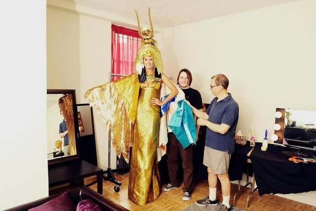 Heidi Klum in Gold gehüllt