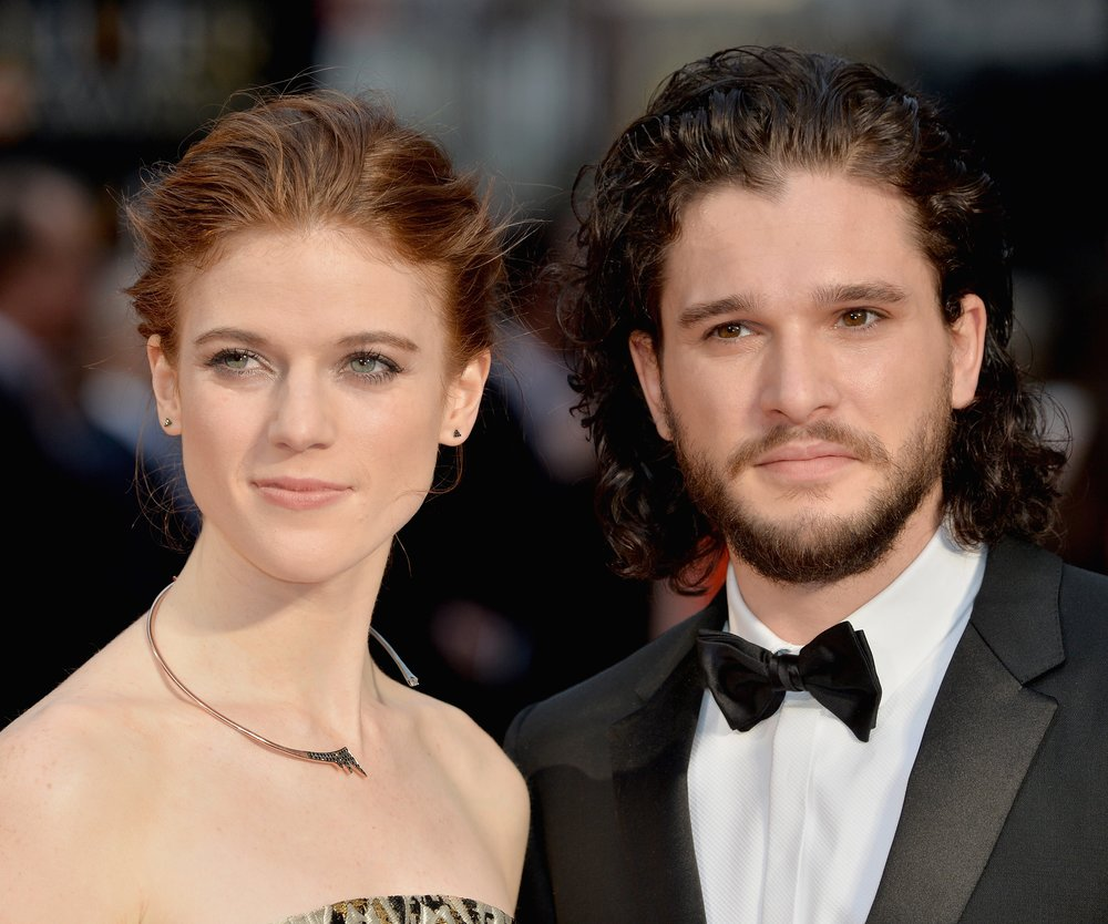 LONDON, ENGLAND - APRIL 03: Rose Leslie and Kit Harington attend The Olivier Awards with Mastercard at The Royal Opera House on April 3, 2016 in London, England. (Photo by Anthony Harvey/Getty Images)