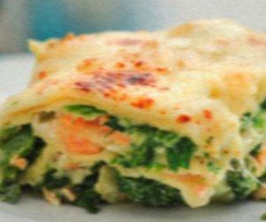 Lachs Spinat Lasagne
