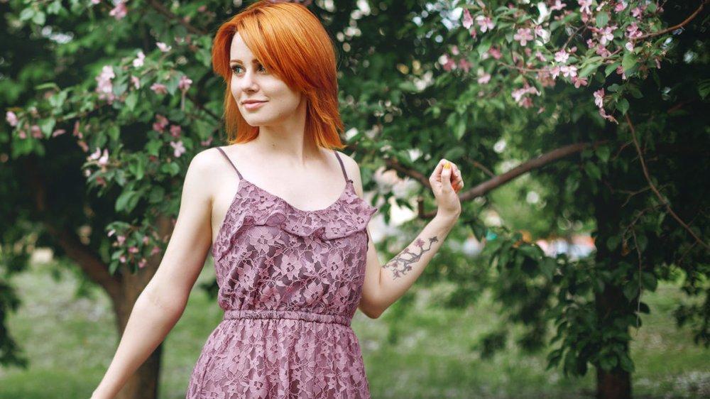 Blumenranke-Tattoo