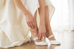 Brautschuhe Riemchen