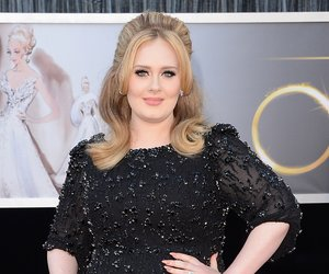 HOLLYWOOD, CA - FEBRUARY 24: Singer Adele arrives at the Oscars at Hollywood & Highland Center on February 24, 2013 in Hollywood, California. (Photo by Jason Merritt/Getty Images)
