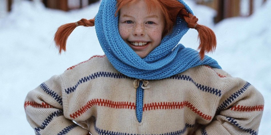 "TO GO WITH AFP STORY BY DELPHINE TOUITOU (FILES) A file photo taken 23 February 1968 shows a still from the movie ""Pippi Longstocking"" with Inger Nilsson as Pippi. Swedish writer Astrid Lindgren, who would have been 100 14 November 2007, still enjoys worldwide success with her children's books, which like her most famous character Pippi Longstocking do not seem to have aged a bit. Born 14 November 1907 in the southeastern Swedish town of Vimmerby, the writer revolutionized the world of children's books with such beloved characters as Emil of Maple Hill, Madicken, Karlsson-on-the Roof and Ronia the Robber's Daughter. AFP PHOTO / JACOB FORSELL (Photo credit should read JACOB FORSELL/AFP/Getty Images)"