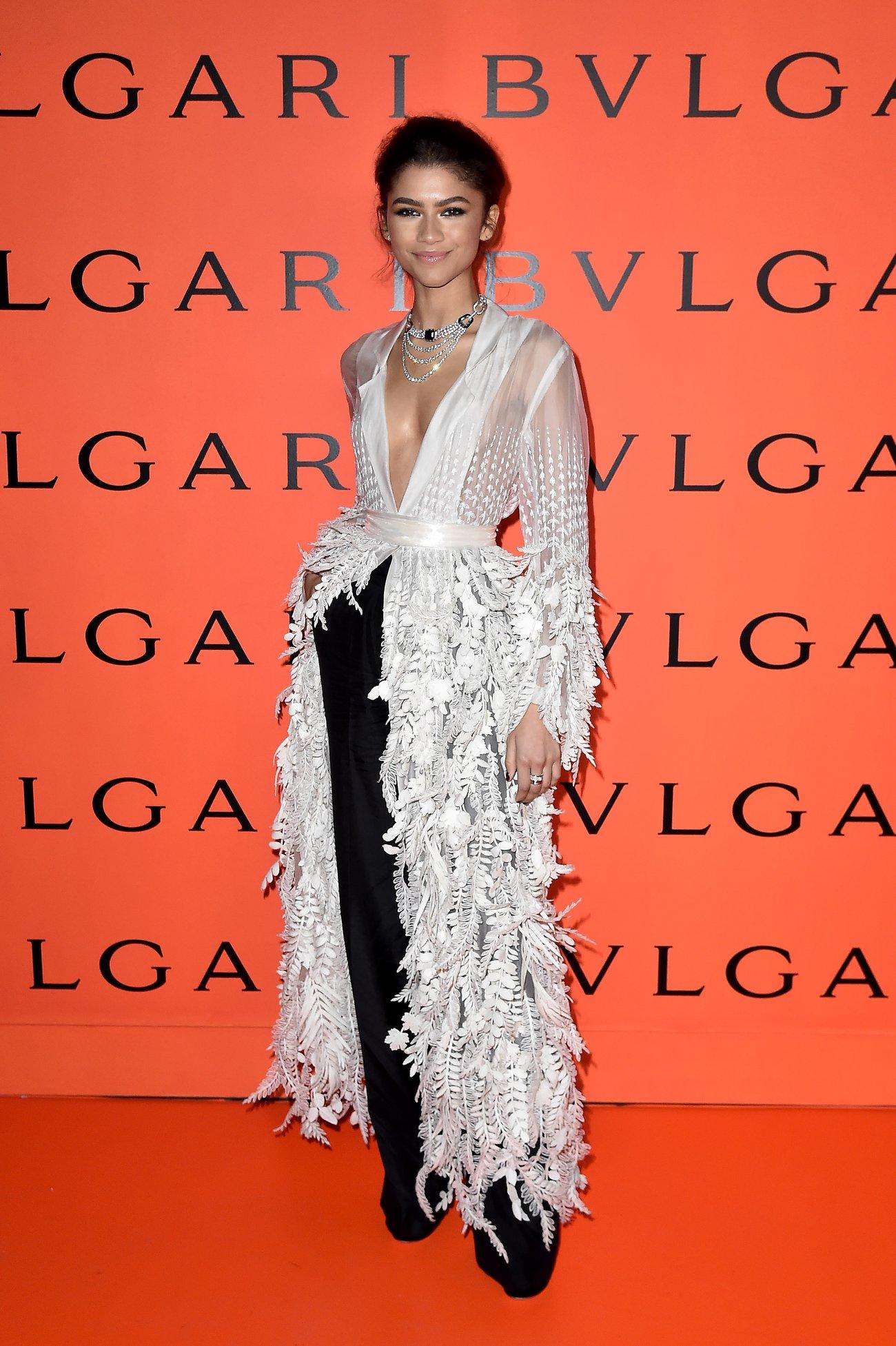 Zendaya Kleid Roch über Hose