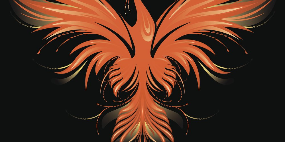 Phönix-Tattoo Vorlage 9
