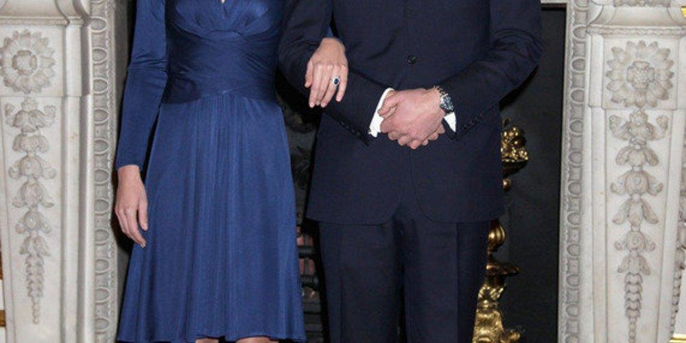 Kate Middleton und Prinz William auf ihrer Verlobung