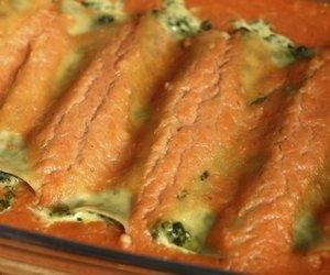 Gefüllte Cannelloni mit Spinat