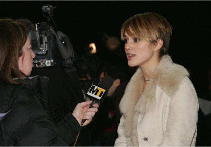 Keira Knightly schauspielert.