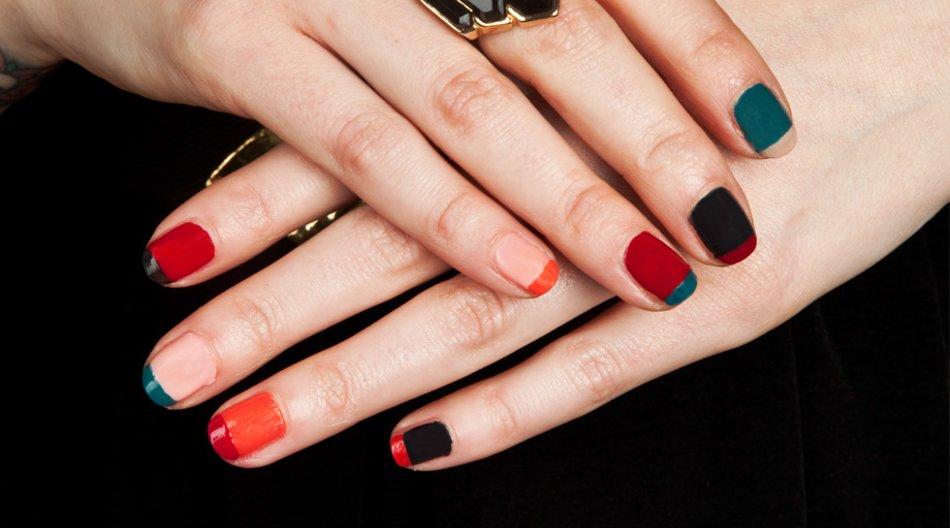 Colour Blocking für die Nägel