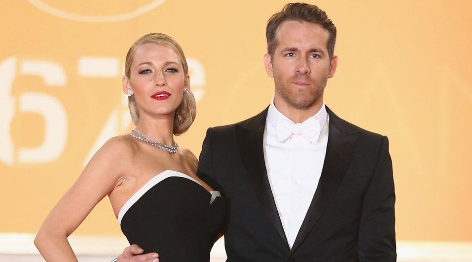 "CANNES, FRANCE - MAY 16: Blake Lively and Ryan Reynolds attend the ""Captives"" premiere during the 67th Annual Cannes Film Festival on May 16, 2014 in Cannes, France. (Photo by Andreas Rentz/Getty Images)"