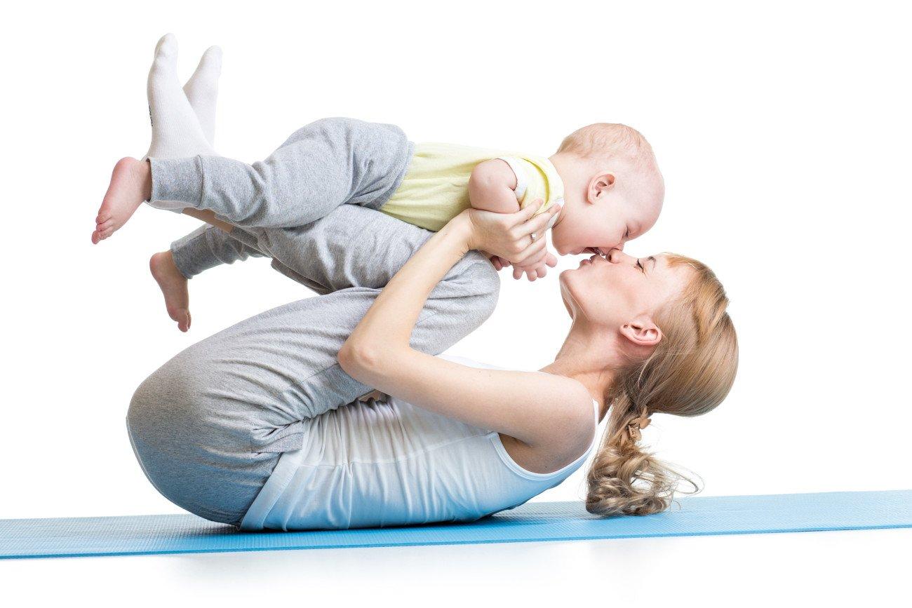 Baby-Yoga - Kuss