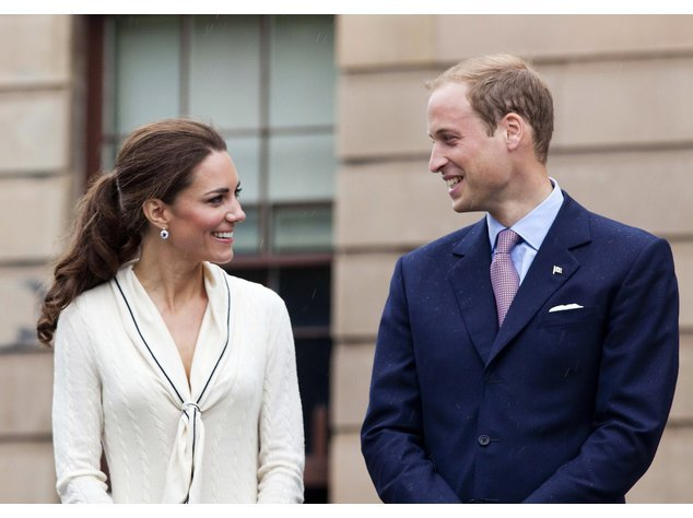 Kate Middleton und Prinz William strahlen