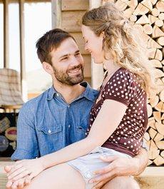 Romantik in der Holzhütte