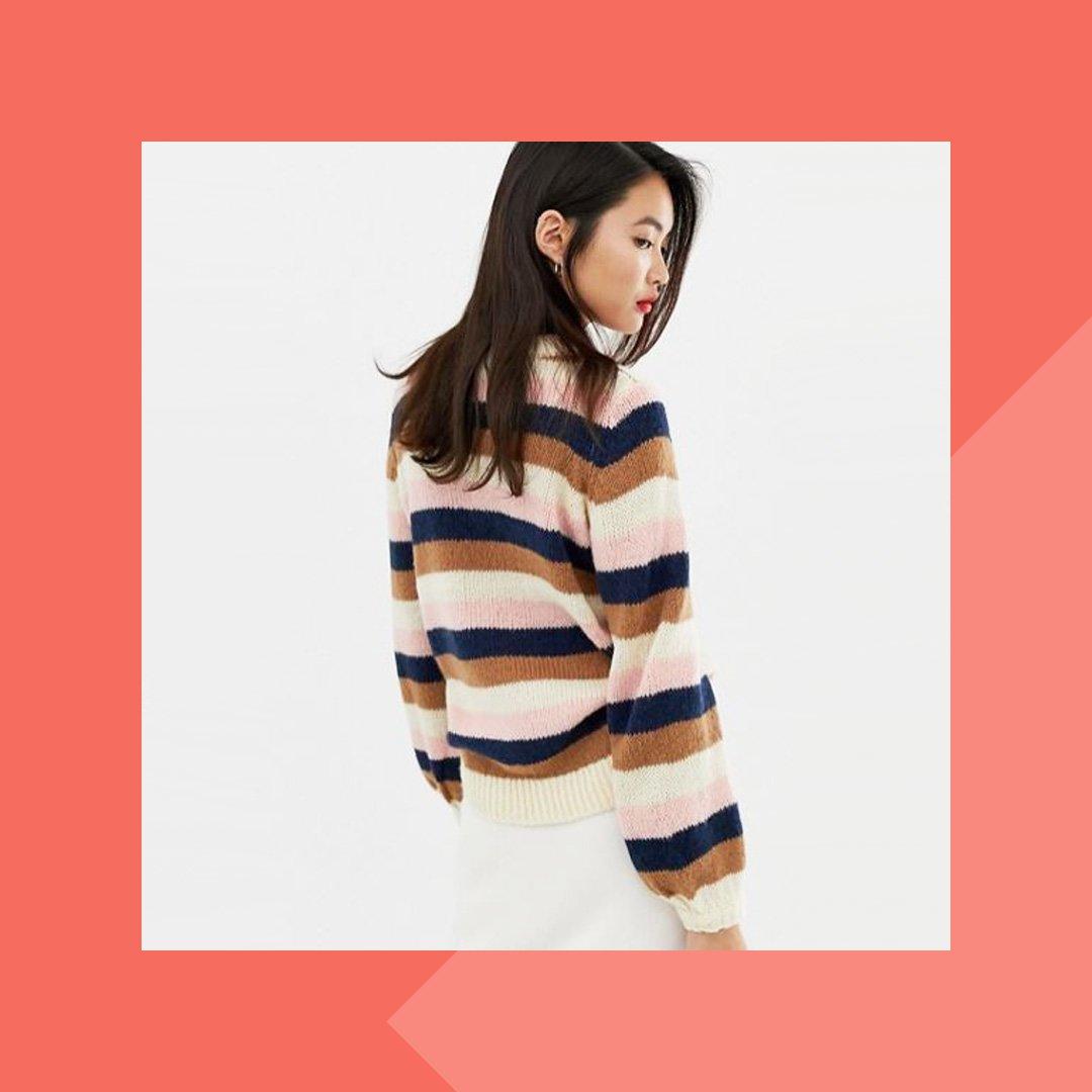 Pullover bunte Streifen