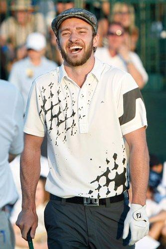 Justin Timberlake spielt Golf