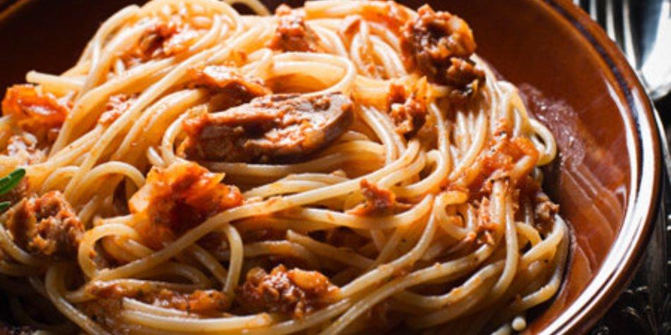 Spagetti mit Thunfisch