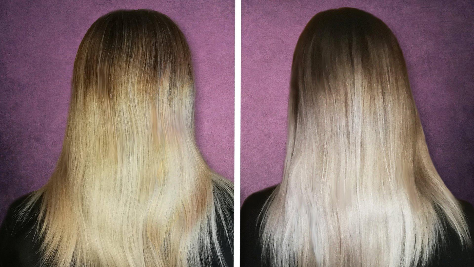 Abmattieren nach blondierung