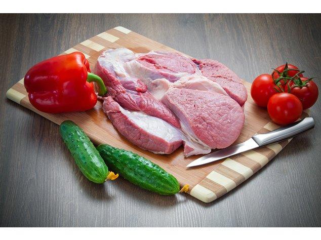 Fleisch und eine Gemüsevariation