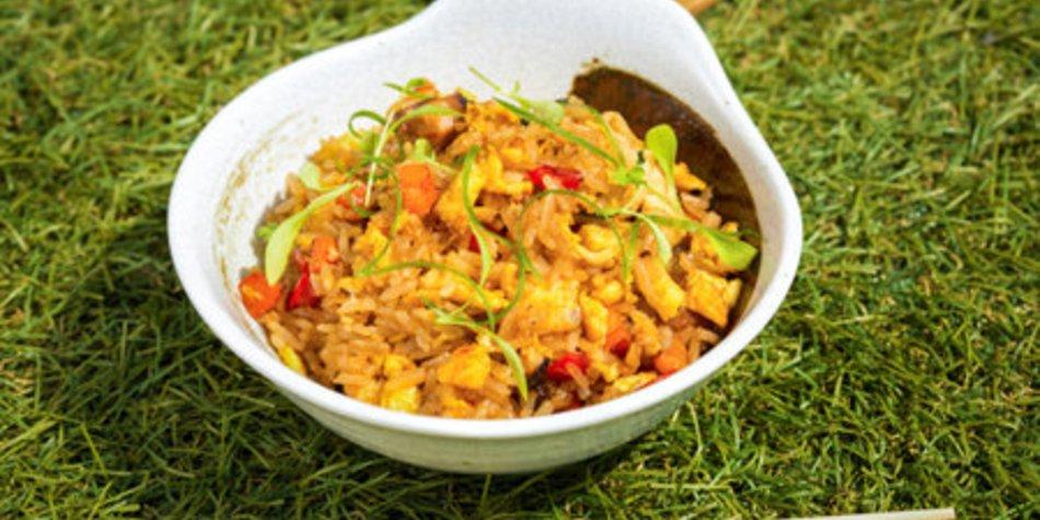 Hähnchen Reispfanne