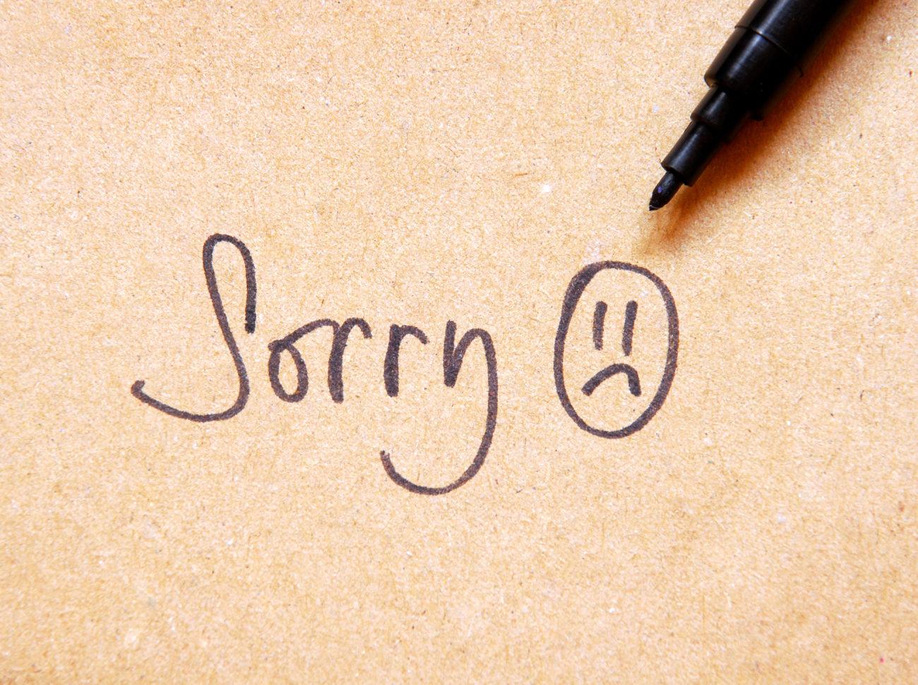 wie kann ich mich bei ihm entschuldigen