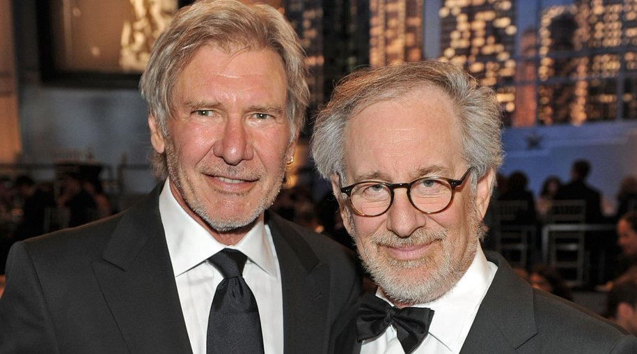 CULVER CITY, CA - JUNE 10: Actor Harrison Ford (L) and AFI Board Member Steven Spielberg in the audience during the 38th AFI Life Achievement Award honoring Mike Nichols held at Sony Pictures Studios on June 10, 2010 in Culver City, California. The AFI Life Achievement Award tribute to Mike Nichols will premiere on TV Land on Saturday, June 25 at 9PM ET/PST. (Photo by Frazer Harrison/Getty Images for AFI)