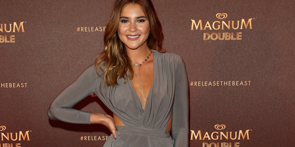 CANNES, FRANCE - MAY 12: Stefanie Giesinger attends the Magnum Doubles Party at the annual 69th Cannes Film Festival at Plage Magnum on May 12, 2016 in Cannes, France. (Photo by Andreas Rentz/Getty Images)