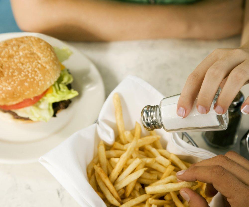 Salzige Speisen im Restaurant