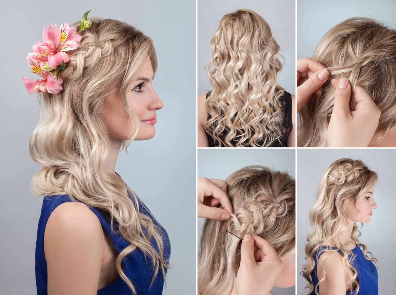 Hochzeit Frisuren Wellen Mittellange Haare