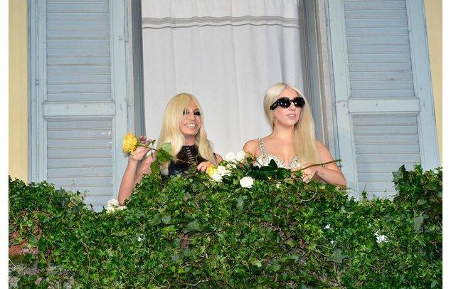 Lady Gaga und Donatella Versace
