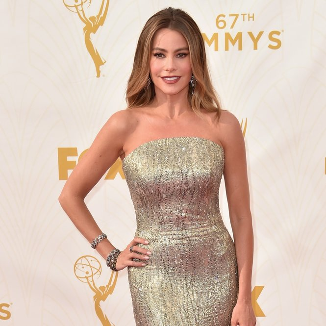 LOS ANGELES, CA - SEPTEMBER 20:  Actress Sofia Vergara attends the 67th Emmy Awards at Microsoft Theater on September 20, 2015 in Los Angeles, California. 25720_001  (Photo by Alberto E. Rodriguez/Getty Images for TNT LA)