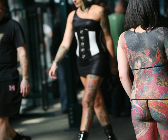 süchtig nach Tattoos