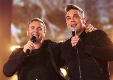Gary Barlow und Robbie Williams