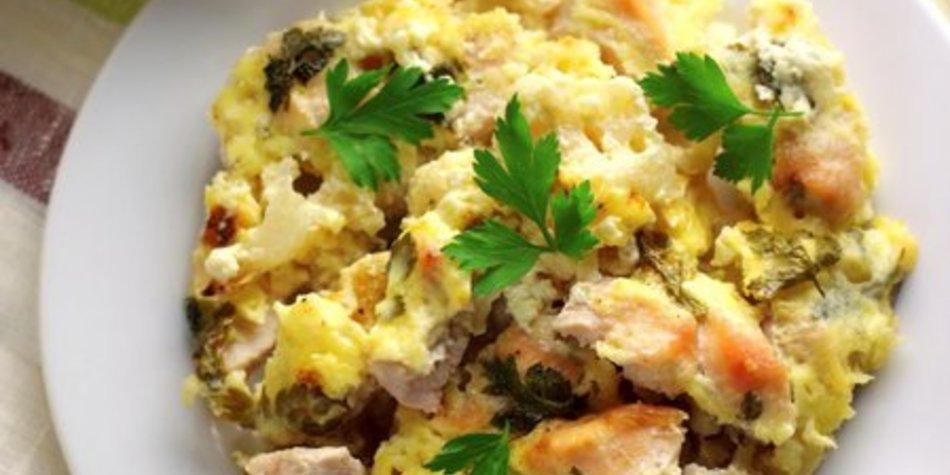 Gemüseauflauf mit Fleisch