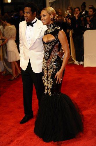 Beyonce Knowles und Jay-Z im schwarz-weißen Look