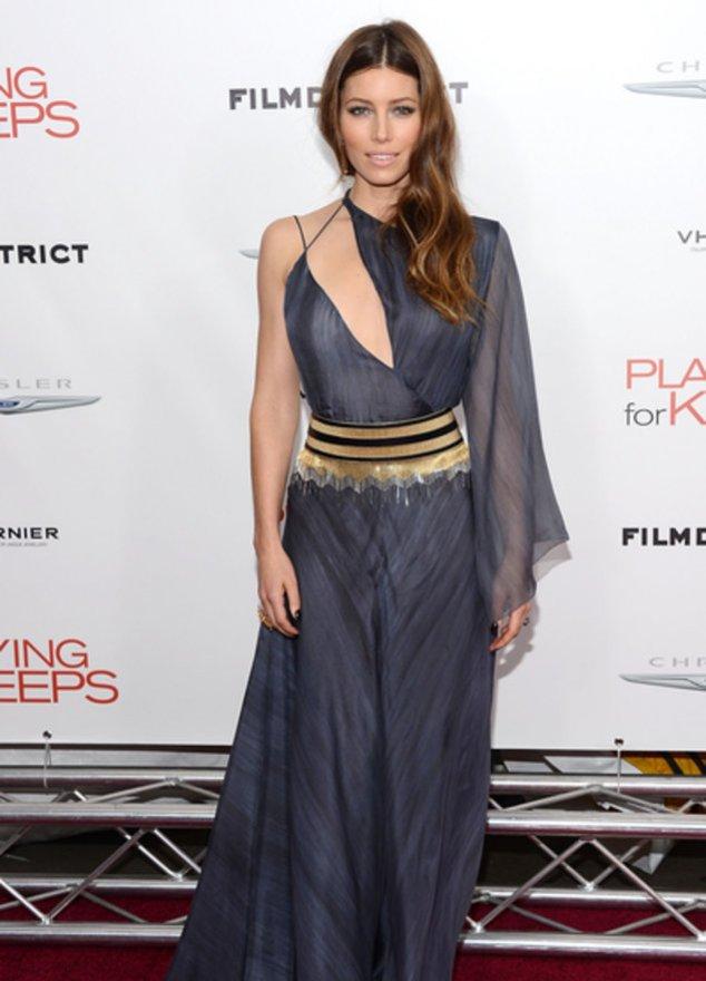 Jessica Biel im traumhaften Kleid.