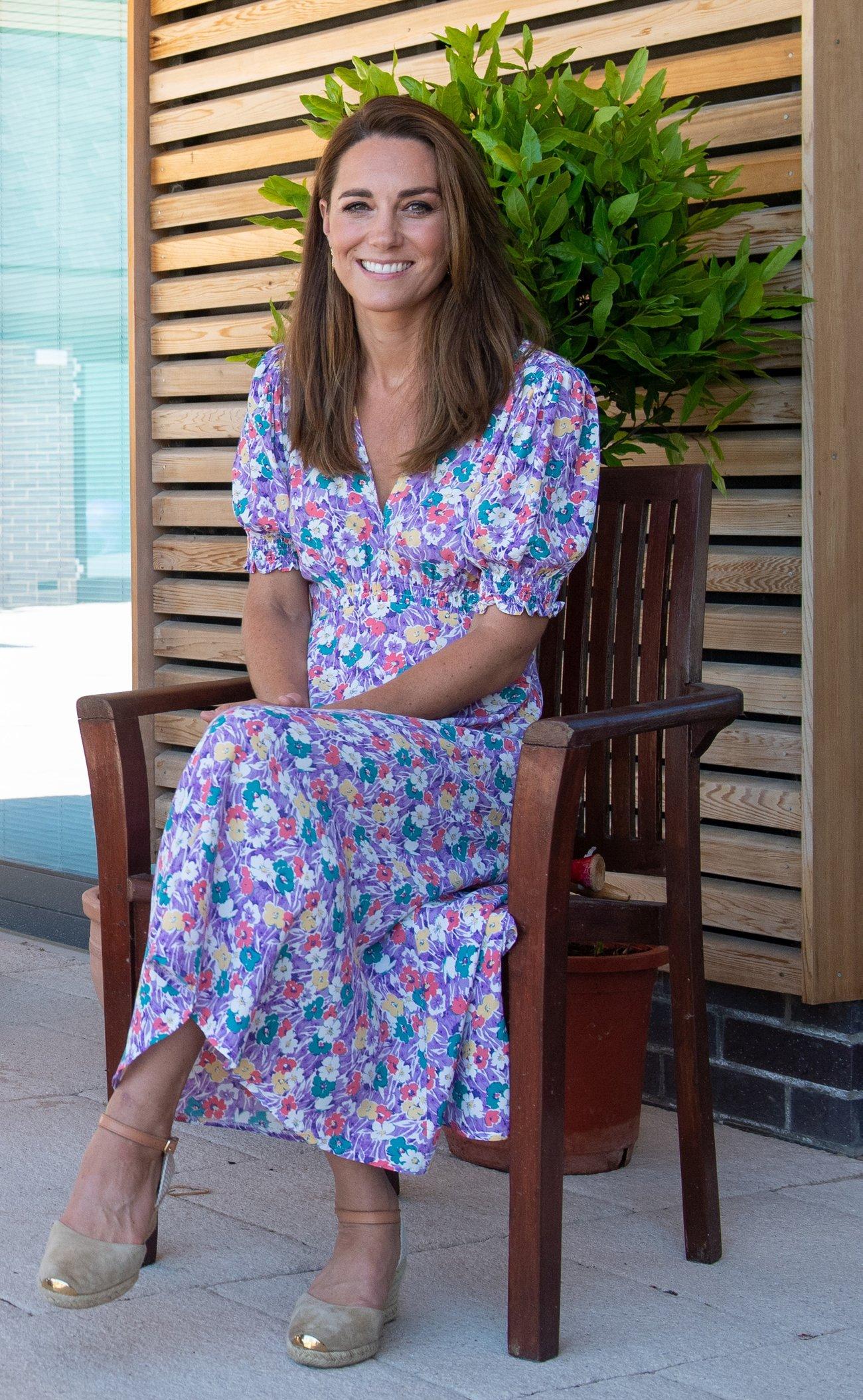 Herzogin Kate Kleid Sommerkleid Blumenprint