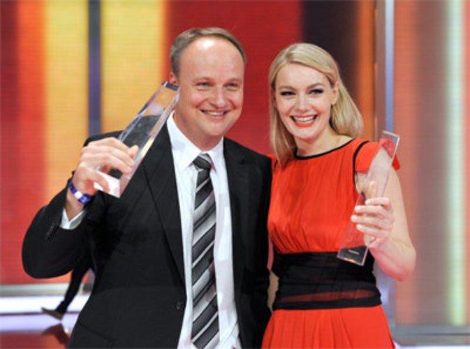 Oliver Welke und Martina Hill beim Deutschen Fernsehpreis 2010