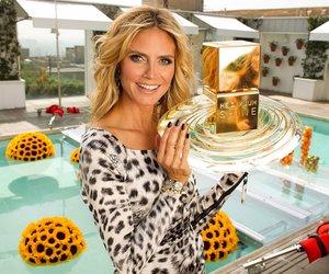 Heidi Klum macht Werbung für ihr Parfum