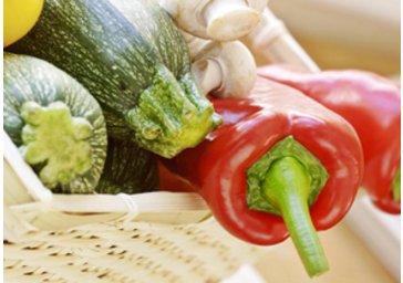 Zucchini und Paprika
