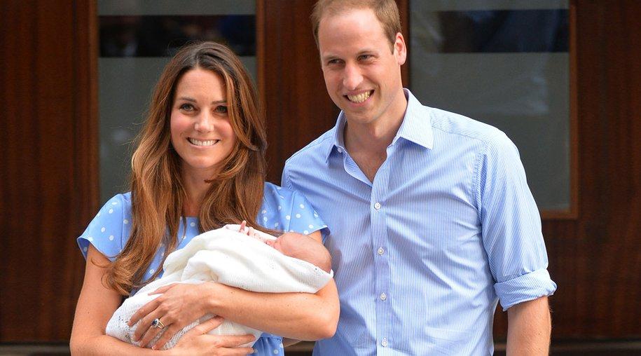 Prinz William und Herzogin Kate mit ihrem kleinen Sohn.