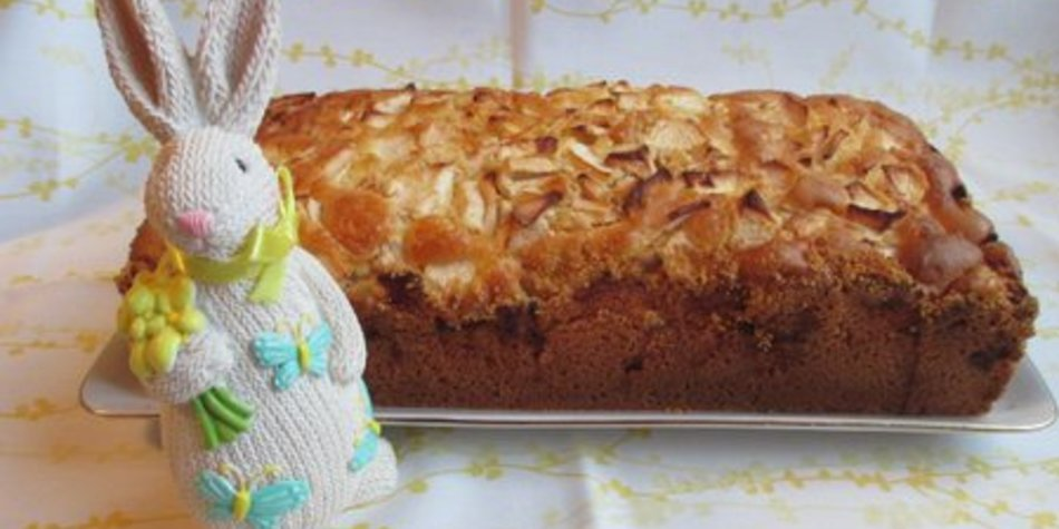 Apfelkuchen in der Brotbackform