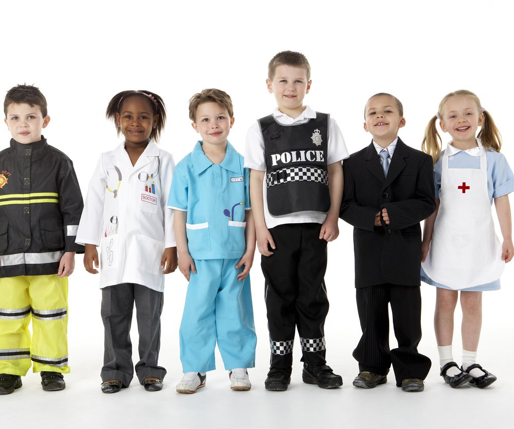Young Children Dressing Up
