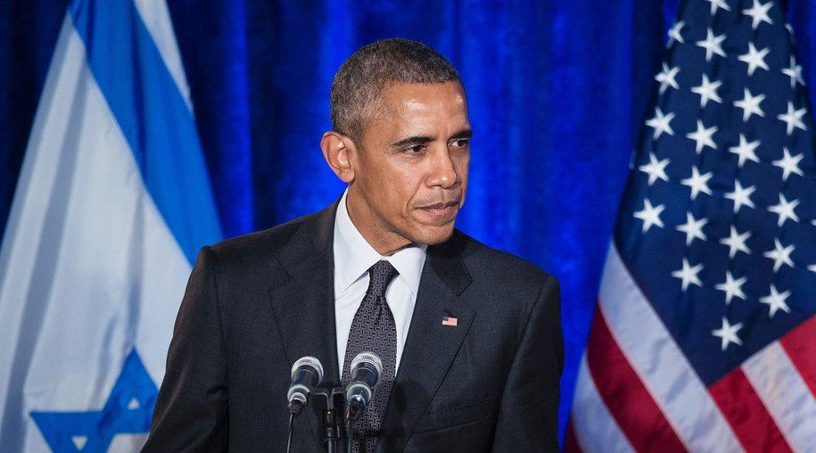 US President Barack Obama addresses the Righteous Among the Nations Award Ceremony at the Israeli Embassy January 27, 2016 in Washington, DC. / AFP / Brendan Smialowski (Photo credit should read BRENDAN SMIALOWSKI/AFP/Getty Images)