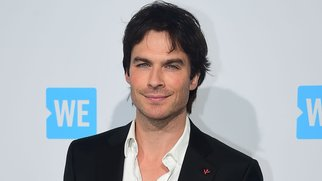 Ian Somerhalder poses on arrival for WE Day in California on April 7, 2016 in Los Angeles, California, where some 16,000 students and educators from over 550 schools across the state came to celebrate their commitment to taking actions on issues they care about. / AFP / FREDERIC J. BROWN (Photo credit should read FREDERIC J. BROWN/AFP/Getty Images)