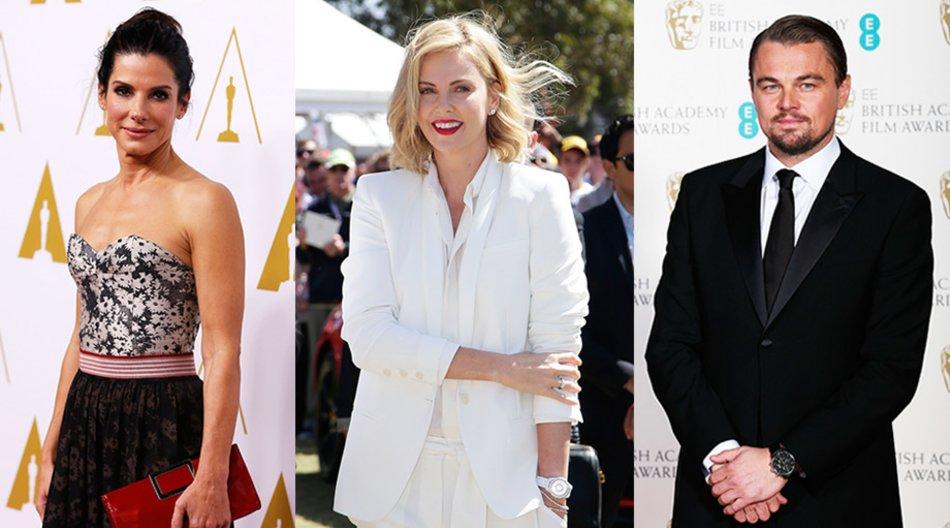 Sandra Bullock, Charlize Theron, Leonardo DiCaprio