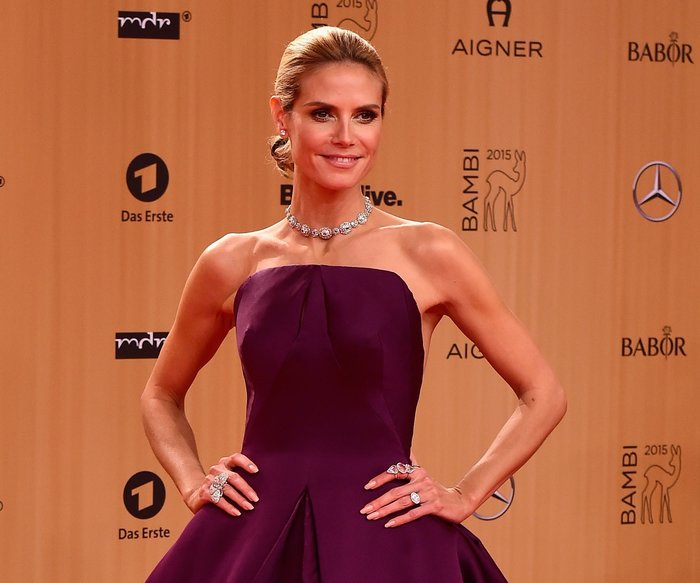 BERLIN, GERMANY - NOVEMBER 12: Heidi Klum attends the Bambi Awards 2015 at Stage Theater on November 12, 2015 in Berlin, Germany. (Photo by Alexander Koerner/Getty Images for AIGNER)