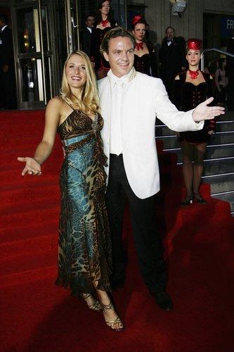 Stefanie Hertel und Stefan Mross auf dem Red Carpet.