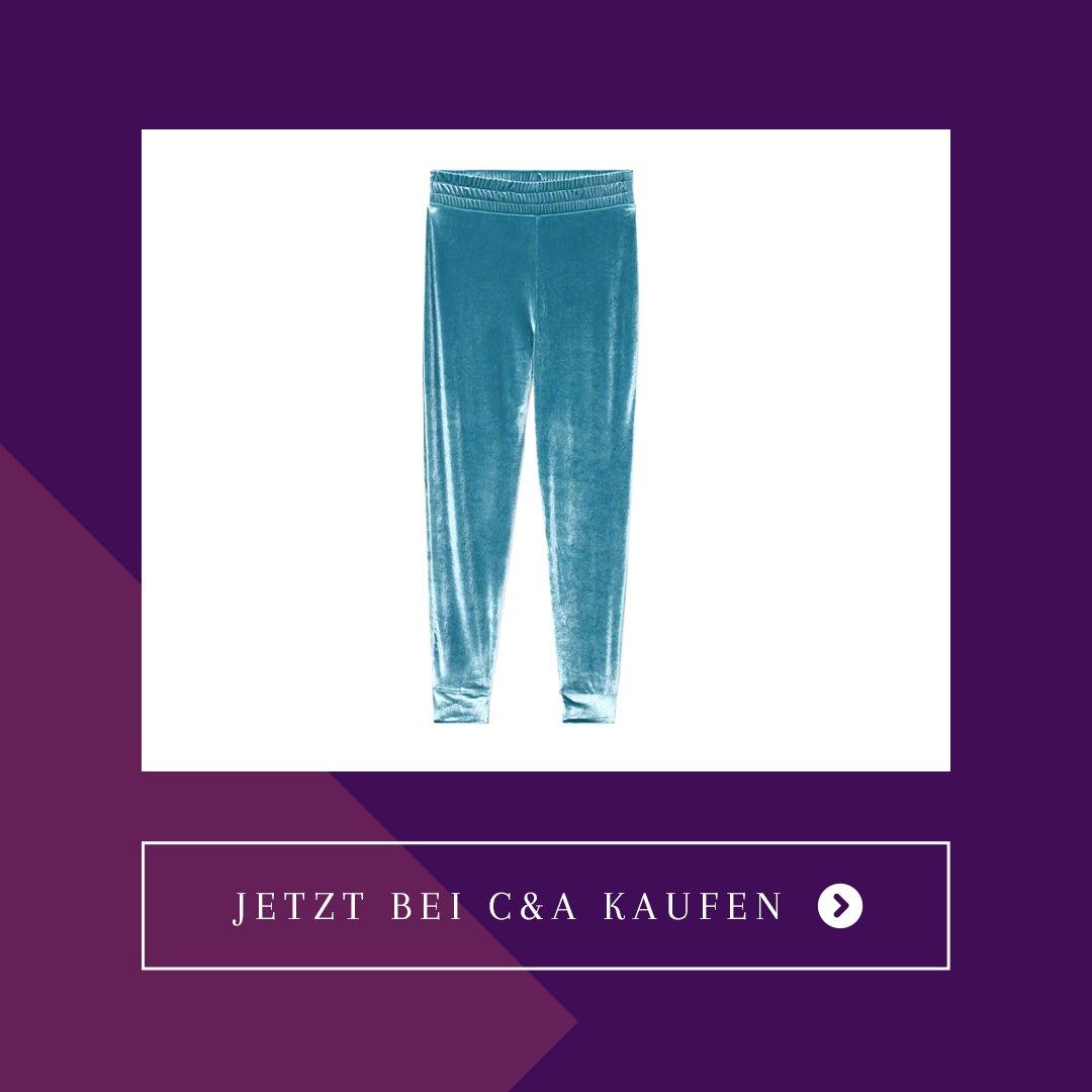 C&A Velours-Jogginghose