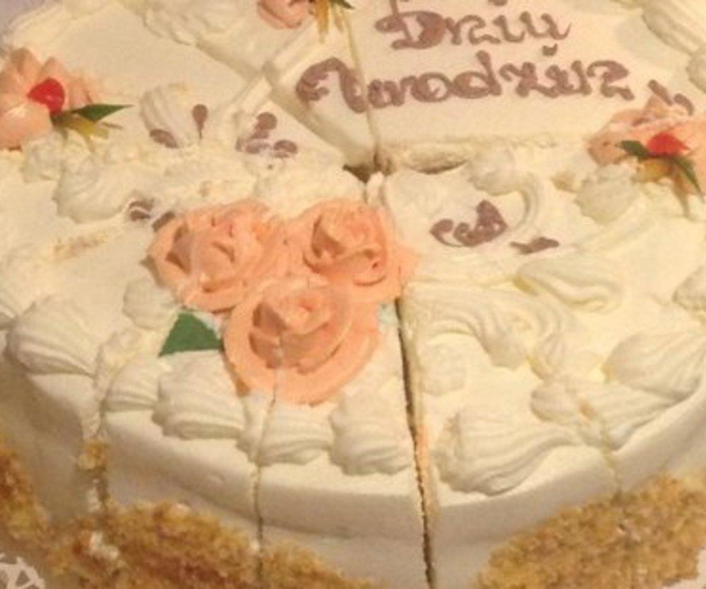 Eierlikör Pfirsich-Käse-Sahne Torte