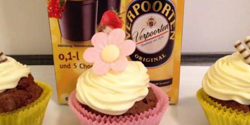 Verpoorten Eierlikör Cupcakes mit Eierlikör Topping